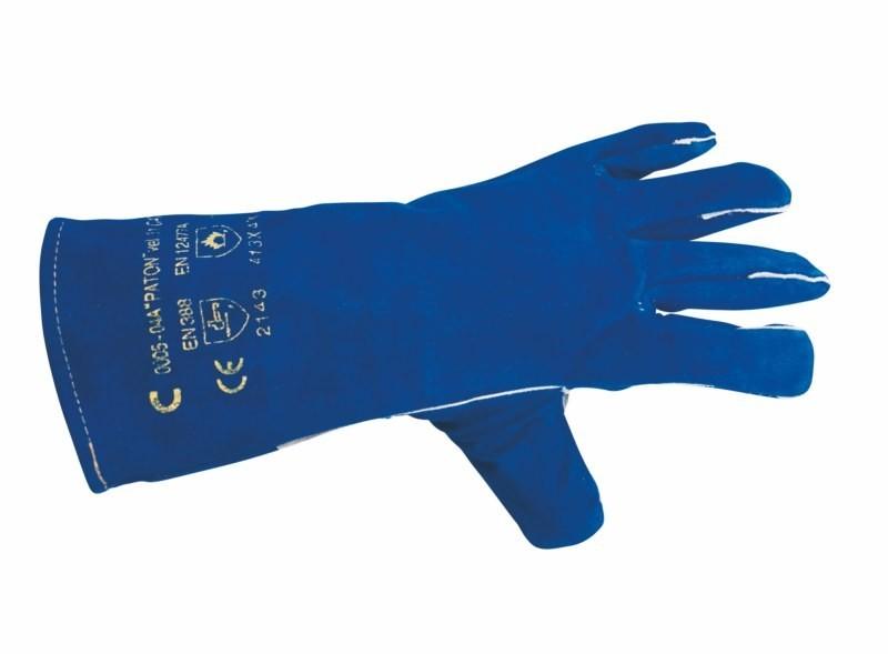 Zváračské rukavice PATON z modrej hovädzej štiepenky