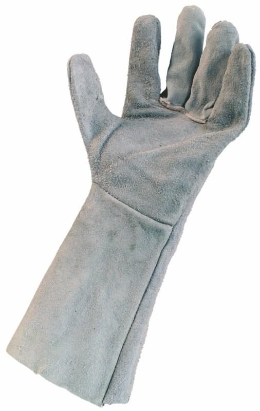 Zváračské rukavice SYRO zo šedej hovädzej kože