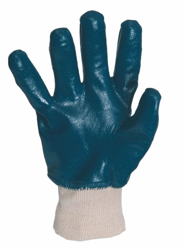 Rukavice ARET pracovné celomáčané v modrom nitrile