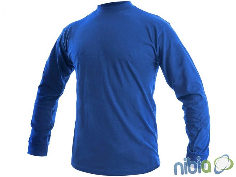 Tričko PETR s dlhými rukávmi, stredne modrá