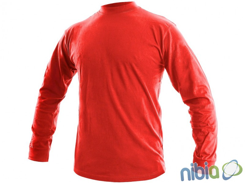 Tričko PETR s dlhými rukávmi, červené