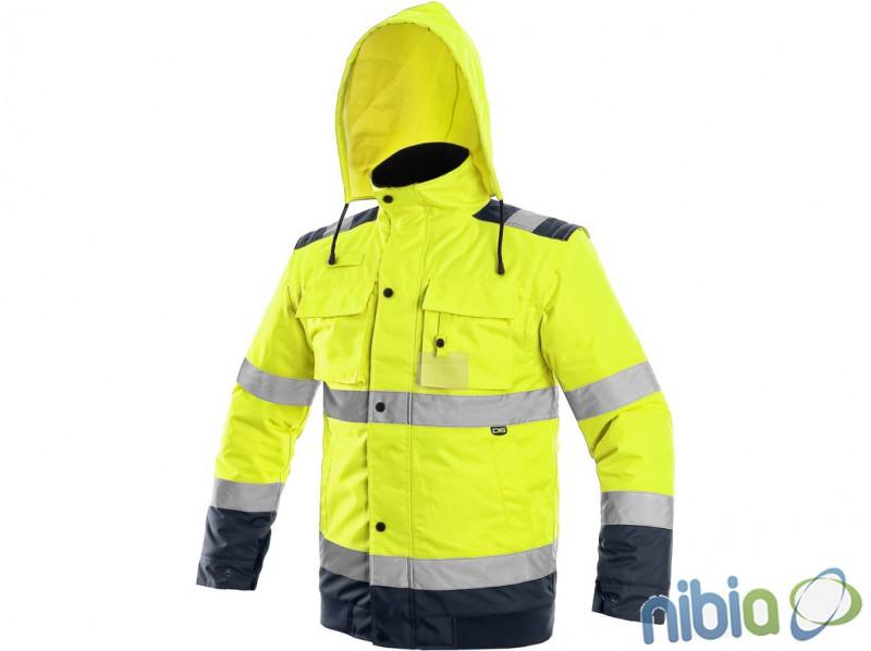 pánska výstražná bunda luton 2 v 1 žltá