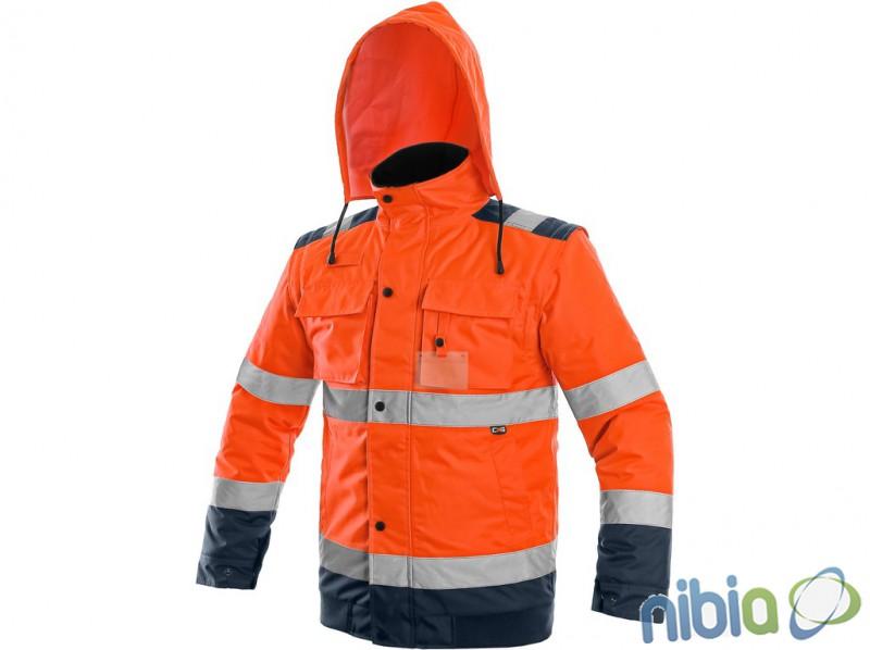 pánska výstražná bunda luton 2 v 1 oranžová