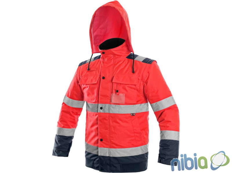 pánska výstražná bunda luton 2 v 1 červená