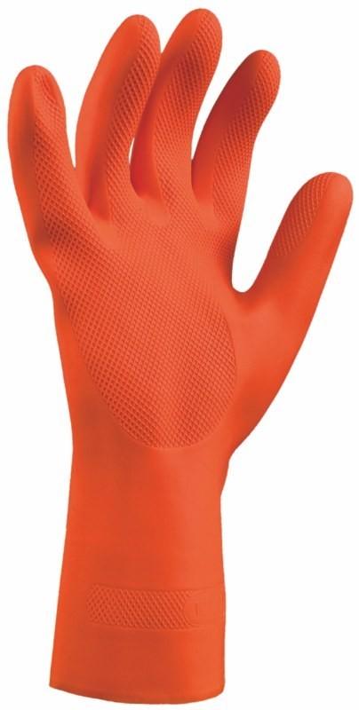 Rukavice INDUSTRIAL oranžové z prírodného latexu