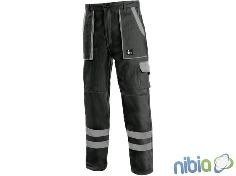 Monterkové nohavice LUXY BRIGHT do pásu čierne