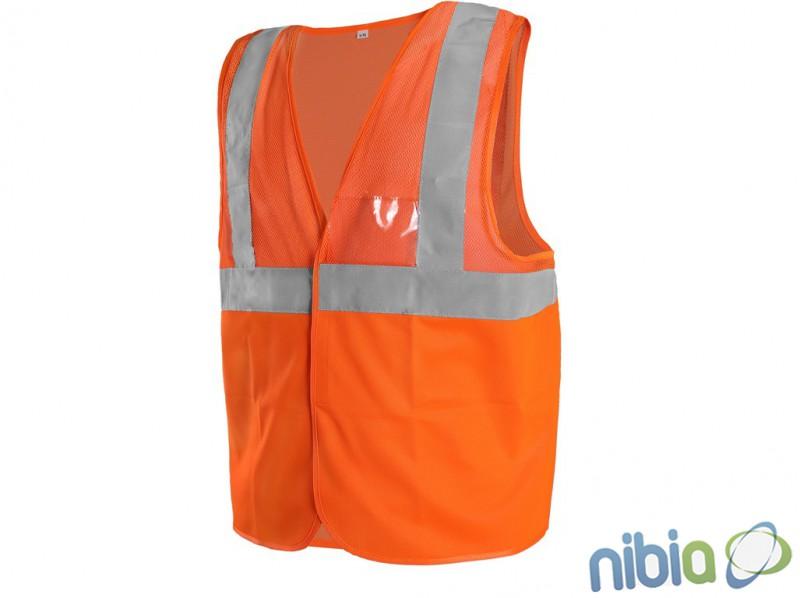 Reflexná výstražná vesta DORSET  oranžová