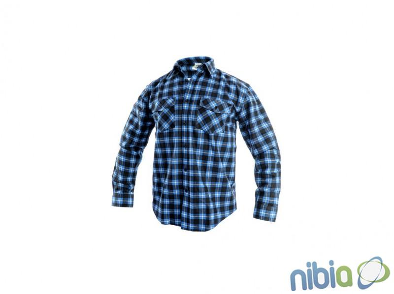 Flanelová košeľa tom modrá