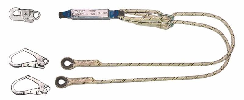 Tlmič pádu ABM s 2 prídavnými lanami