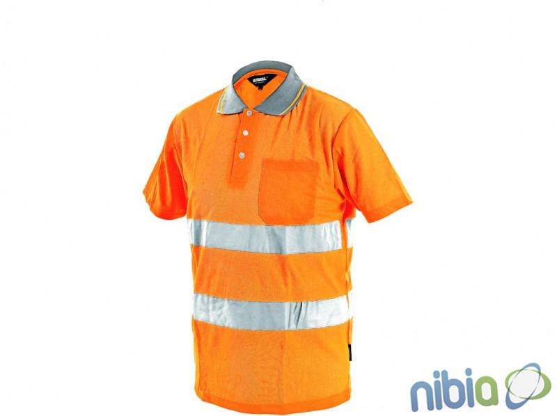 pánska výstražná polokošeľa DOVER oranžová