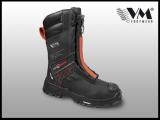 Hasičská holeňová bezpečnostná obuv VM Black fighter 7200-S3, s membránou, Michelin