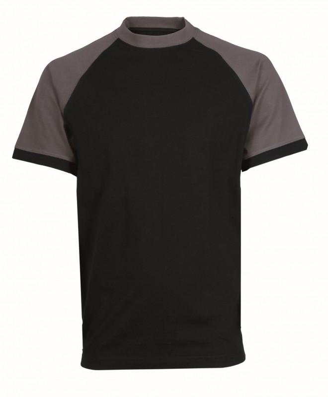 Tričko OLIVER krátke rukávy, čierno-šedá