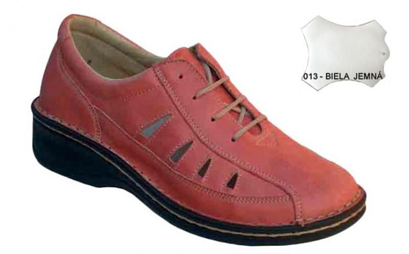 Dámske ortopedické topánky 07-791, biela jemná - 013
