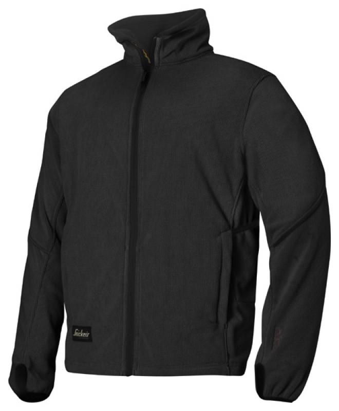 Bunda fleeceová na zips 8009, čierna - čierna