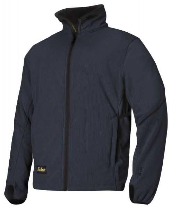 Bunda fleeceová na zips 8009, námornícká modrá - čierna