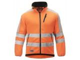 Bunda fleeceová na zips, reflex EN 471 tr.3 8033, oranžová reflexná - čierna