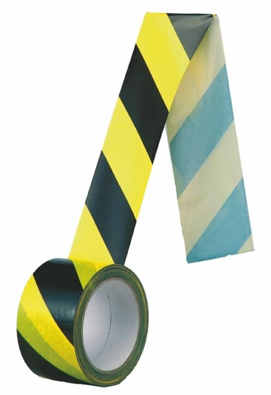 Samolepiaca Páska čierno-žltá PROTISMERNÁ