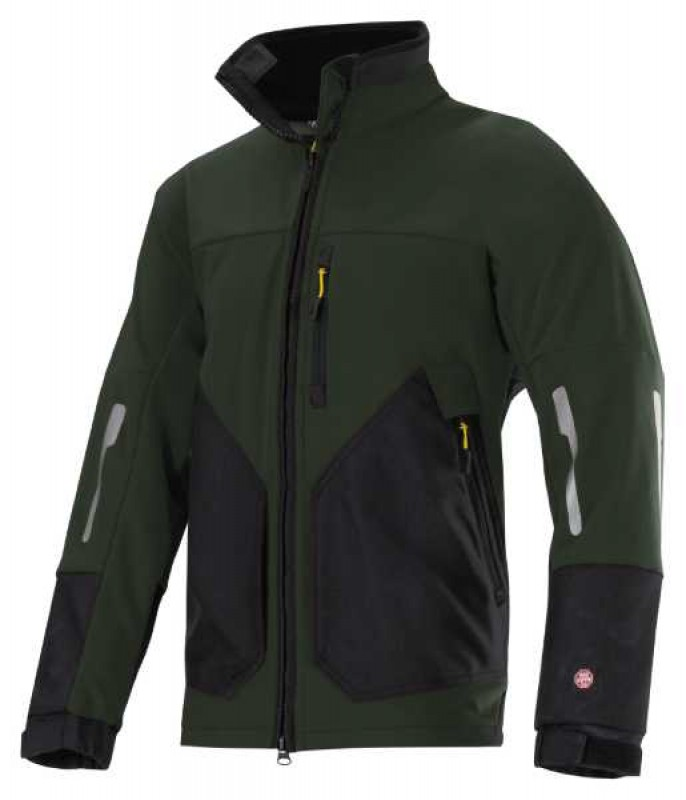 Bunda Soft Shell Windstopper® na zips 8888, olivovo zelená - čierna