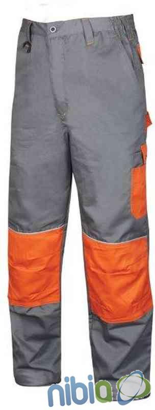 Monterkové nohavice do pása 2STRONG 02 – šedo-oranžová