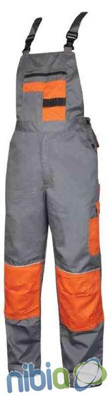 Monterkové nohavice s náprsenkou 2STRONG 03 – šedo-oranžová