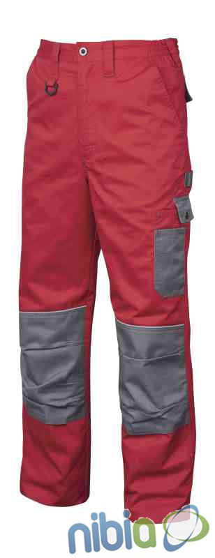 Monterkové nohavice do pása 2STRONG 02 – červeno-šedá