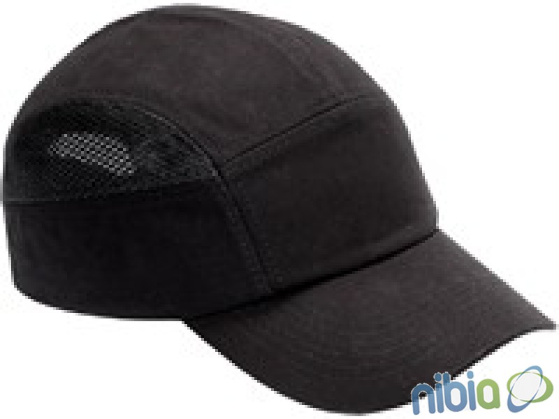 Bavlnená čiapka s vnútornou plastovou výstuhou čierna  SM923