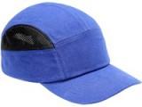 Bavlnená čiapka s vnútornou plastovou výstuhou modrá SM923