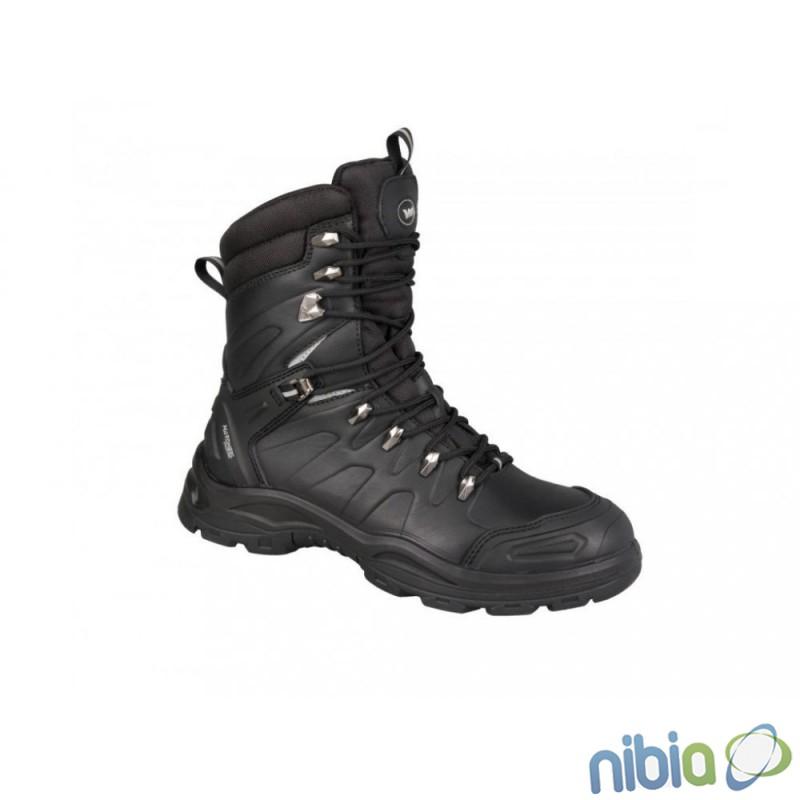 Poloholeňová bezpečnostná obuv MILANO 6480-O2, celokožená s membránou