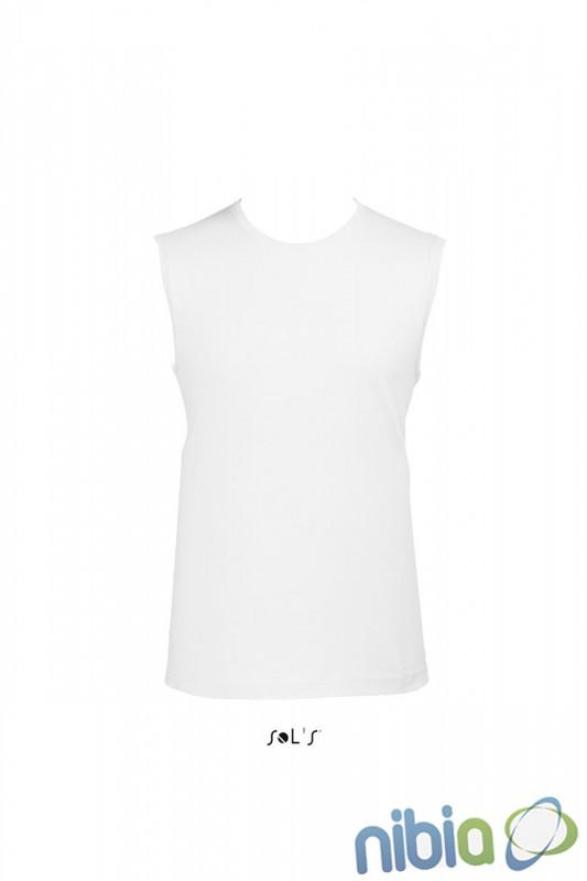 f8e5e2950a16 Pánske tričko bez rukávov - tielko biele